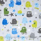 Monsters - Monsters Park Grey Yardage