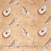 Sand and Sea - Shells All Over Sand Yardage