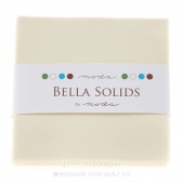 Bella Solids Ivory Charm Pack by Moda