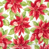 Songbird Christmas - Poinsettia Natural Yardage