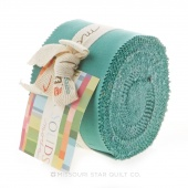 Bella Solids  Betty's Teal Junior Jelly Roll by Moda