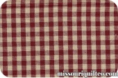 Tea Towel - Small Check Red/TeaDye