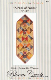 A Pack of Posies Table Runner Pattern