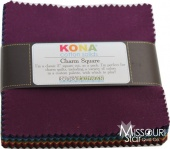 Kona Cotton Solids - Dark Palette Charm Park