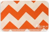 Large Cotton Chevrons - Orange Yardage
