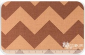 Large Cotton Chevrons - Tone on Tone Brown Yardage