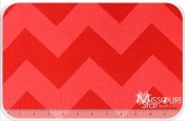 Large Cotton Chevrons - Tone on Tone Red Yardage