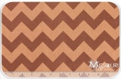 Medium Cotton Chevrons - Tone on Tone Brown Yardage