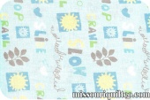 Scribbles - Garden Movement Blue Yardage from Windham Fabrics SKU #30931-2